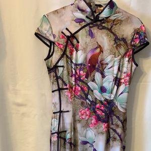 Beautiful Long Chinese Dress Size 4 By Jiexiu